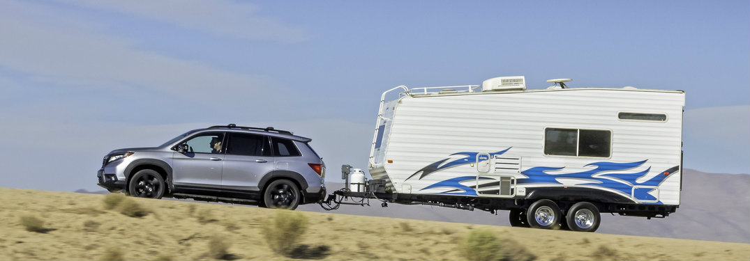 2019 Honda Passport towing a trailer