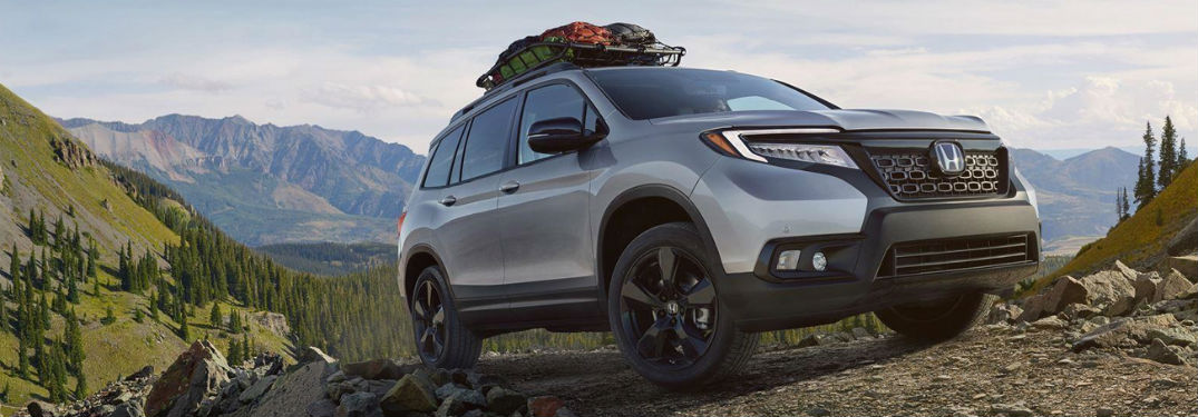 2019 Honda Passport exterior front fascia and passenger side
