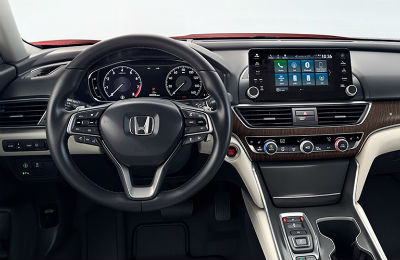 2019 Honda Accord- front- steering wheel and partial dashboard