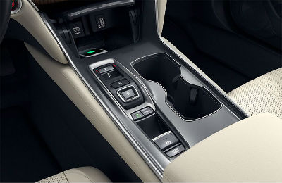 2019 Honda Accord interior close up of center console