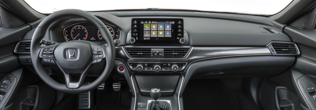 2019 Honda Accord exterior front cabin steering wheel and dashboard