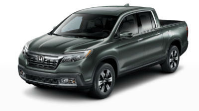 Forest Mist Metallic 2019 Honda Ridgeline front fascia and driver side