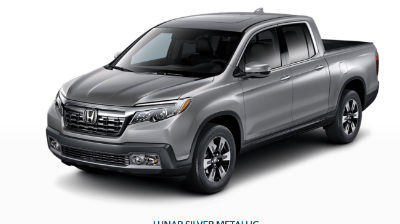 Lunar Silver Metallic 2019 Honda Ridgeline front fascia and driver side