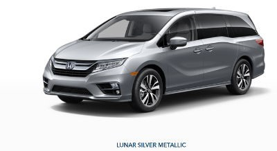 2019 Honda Odyssey exterior front fascia and drivers side Lunar Silver Metallic