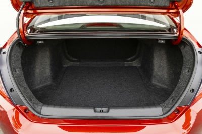 2019 Honda Civic exterior looking into trunk