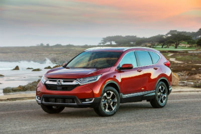 2019 Honda CR-V exterior front fascia and driver side in empty lot next to ocean