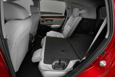 2020 Honda CR-V Hybrid interior back cabin with half of seat folded down