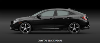 Crystal Black Pearl 2020 Honda Civic Hatchback exterior driver side profile