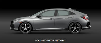 Polished Metal Metallic 2020 Honda Civic Hatchback exterior driver side profile