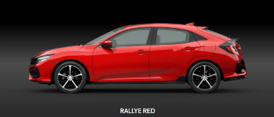 Rallye Red 2020 Honda Civic Hatchback exterior driver side profile
