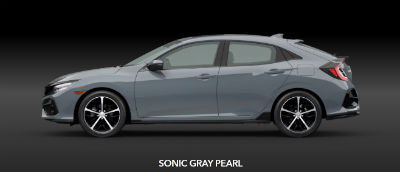 Sonic Gray Pearl 2020 Honda Civic exterior side profile