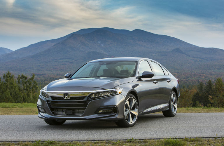 A front left quarter photo of the 2020 Honda Accord.