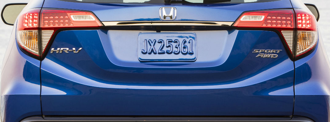 A rear photo of the 2020 Honda HR-V.