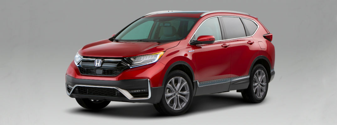 Red 2020 Honda CR-V Hybrid exterior