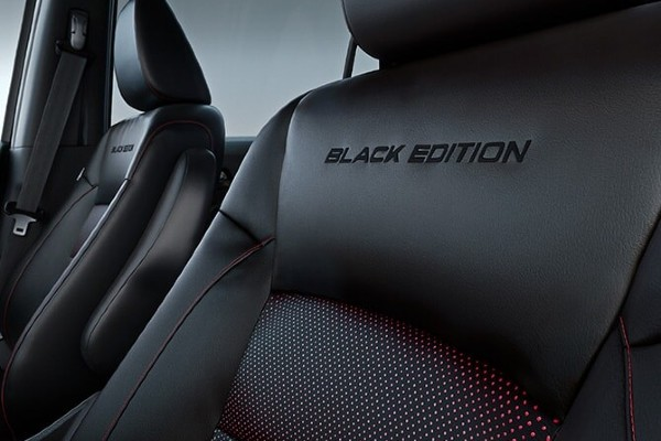 Closeup of seats in 2020 Honda Pilot Black Edition