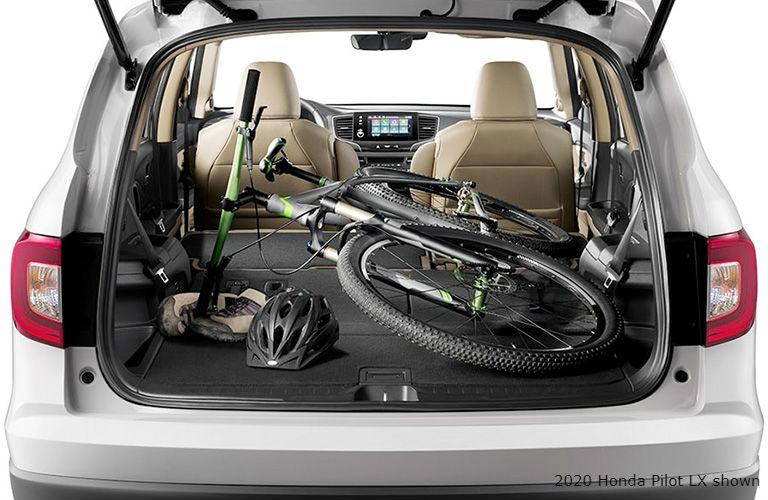 Interior view of 2020 Honda Pilot LX trunk