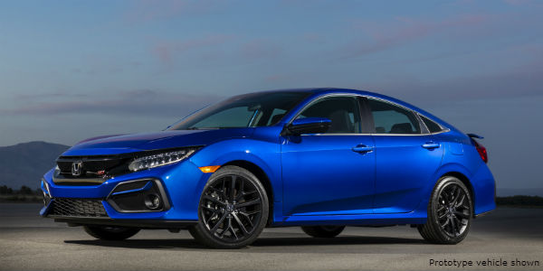 Blue 2020 Honda Civic Si Sedan