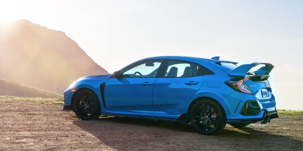 Side view of 2020 Honda Civic Type R
