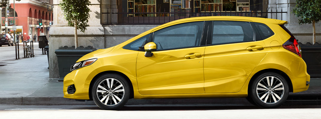 Yellow 2020 Honda Fit