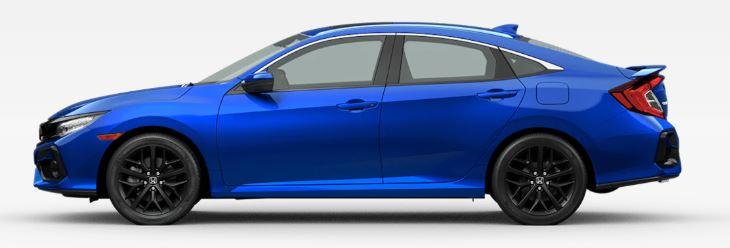 2020 Honda Civic Si in Aegean Blue Metallic