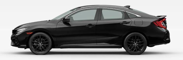 2020 Honda Civic Si in Crystal Black Pearl