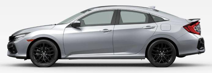2020 Honda Civic Si in Lunar Silver Metallic