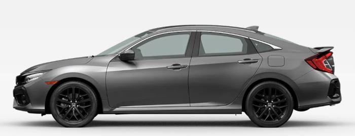 2020 Honda Civic Si in Modern Steel Metallic