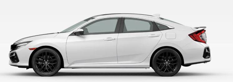 2020 Honda Civic Si in Platinum White Pearl
