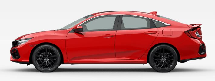 2020 Honda Civic Si in Rallye Red
