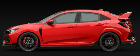 2020 Honda Civic Type R in Rallye Red