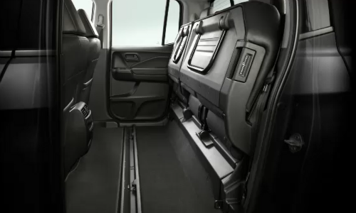 Rear seats up in 2020 Honda Ridgeline