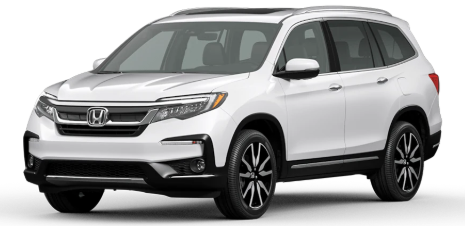 2021 Honda Pilot in Platinum White Pearl