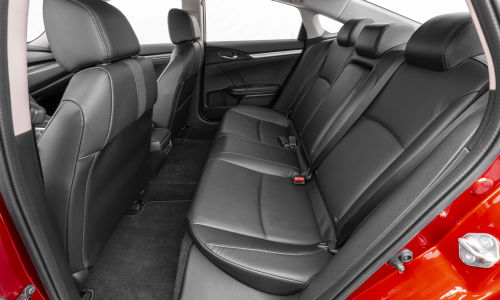 Rear seats in 2020 Honda Civic