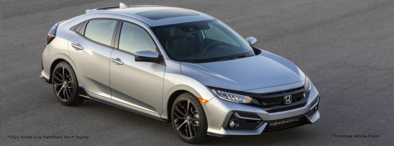 Silver 2021 Honda Civic Hatchback Sport Touring