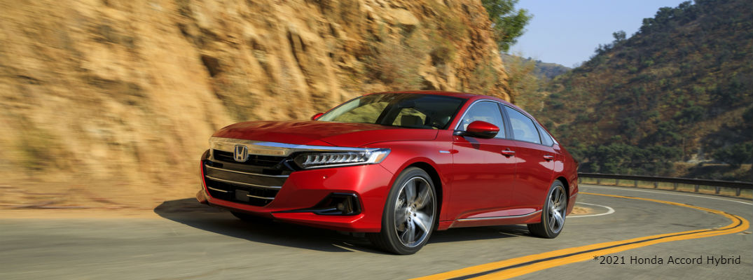 Red 2021 Honda Accord Hybrid