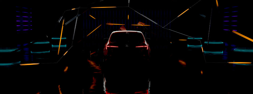 Dark teaser image of 2022 Honda Civic prototype