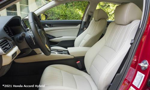 Front seats in 2021 Honda Accord Hybrid