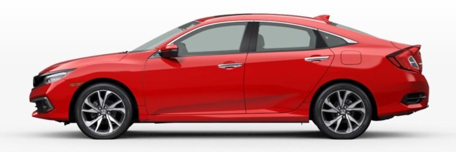 2021 Honda Civic Sedan in Rallye Red