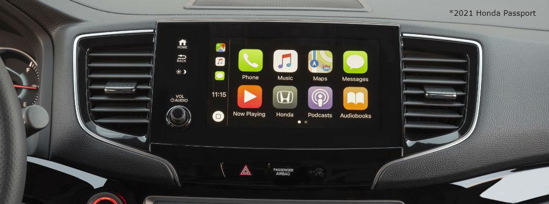 Apple CarPlay in 2021 Honda Passport