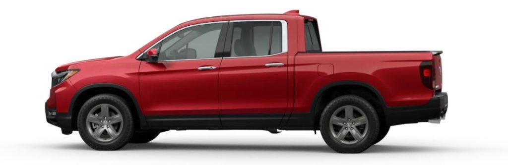 2021 Honda Ridgeline in Radiant Red Metallic II