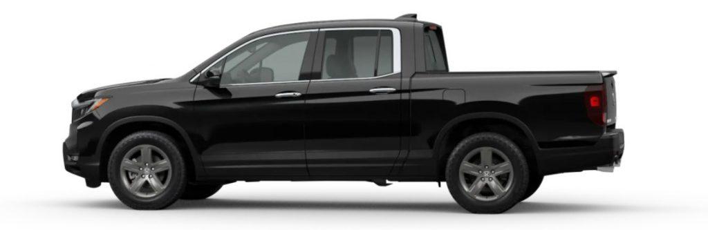 2021 Honda Ridgeline in Crystal Black Pearl