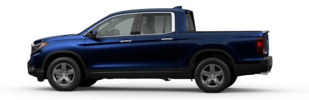 2021 Honda Ridgeline in Obsidian Blue Pearl