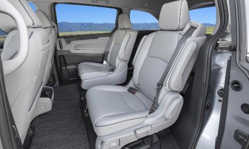 Rear seats in 2022 Honda Odyssey