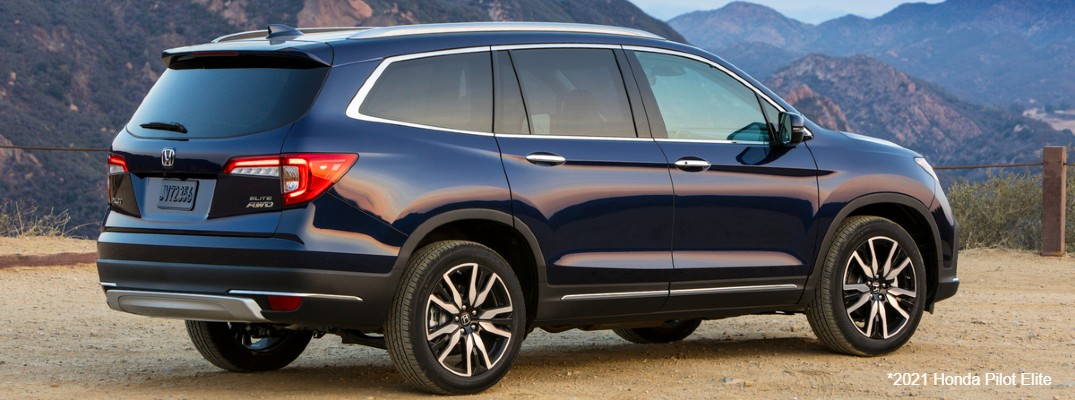 Blue 2021 Honda Pilot Elite