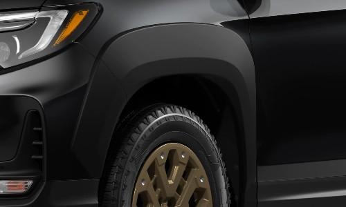 Closeup of fender flares on 2021 Honda Ridgeline