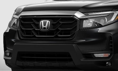 Closeup of grille on 2021 Honda Ridgeline