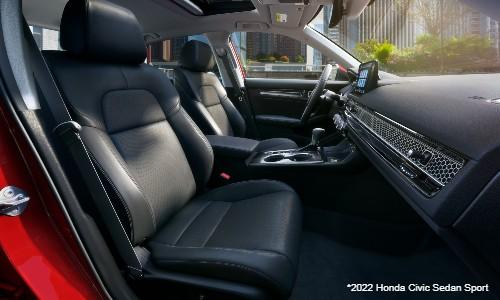 Front seats in 2022 Honda Civic Sedan Sport