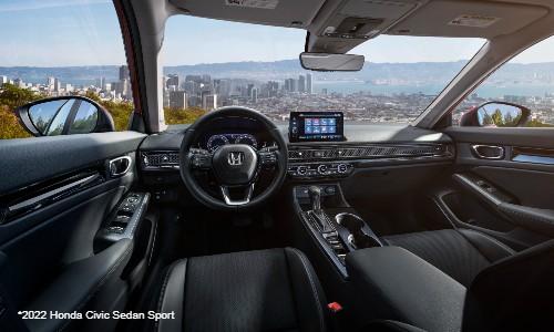 Interior view of 2022 Honda Civic Sedan Sport
