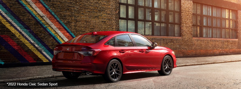 Red 2022 Honda Civic Sedan Sport