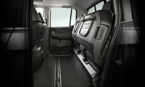 Rear seats up in 2021 Honda Ridgeline